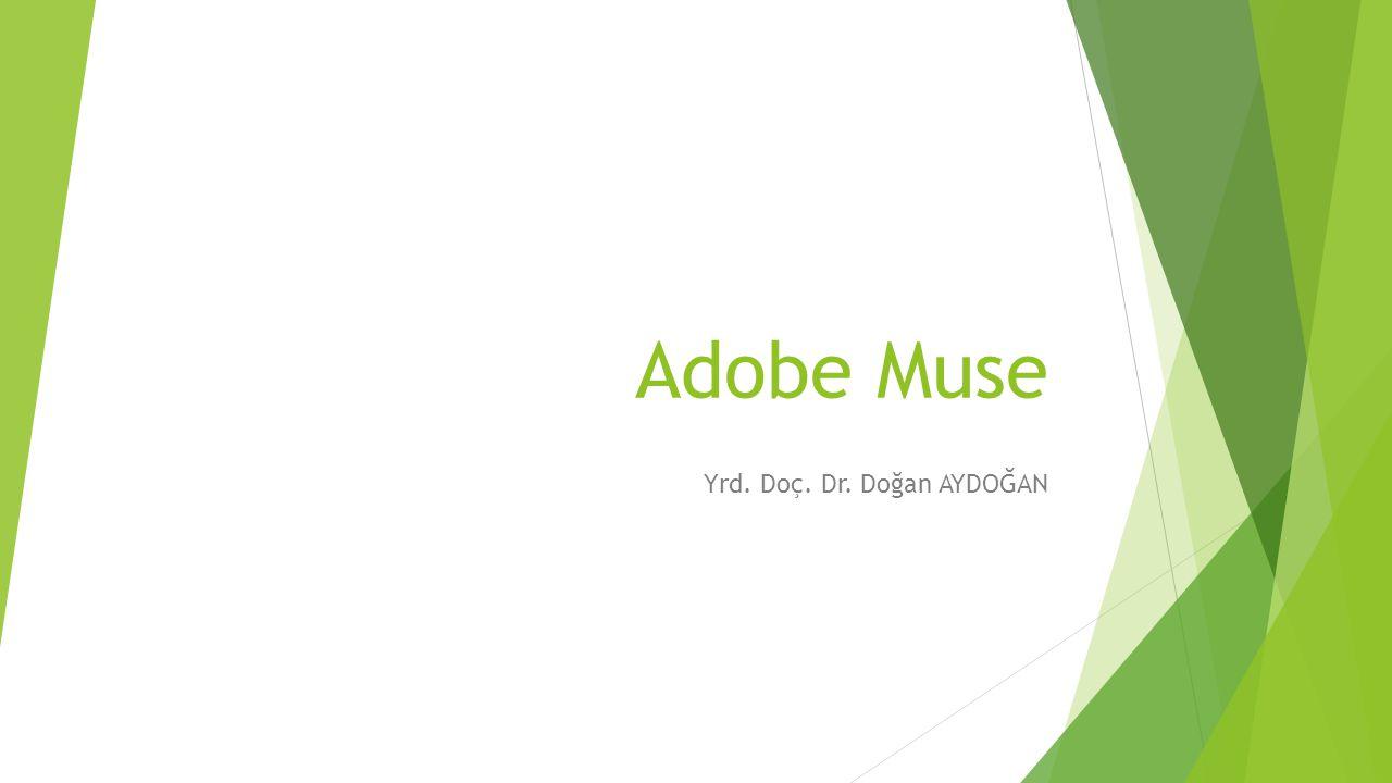 Adobe Muse Yrd. Doç. Dr. Doğan AYDOĞAN
