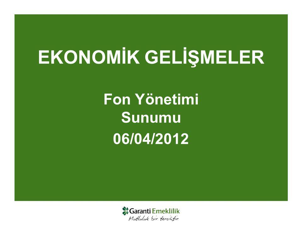 EKONOMİK GELİŞMELER Fon Yönetimi Sunumu 06/04/2012
