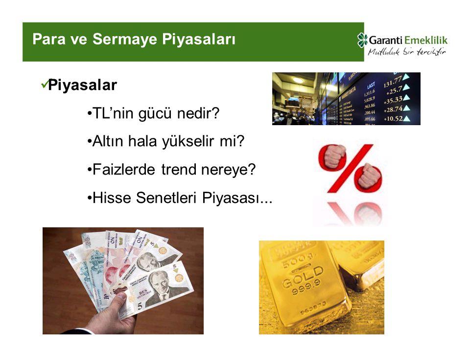 Para ve Sermaye Piyasaları Piyasalar TL'nin gücü nedir.