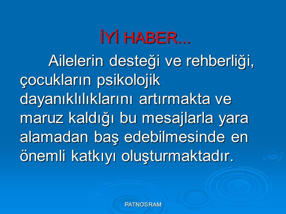 PATNOS RAM İYİ HABER...