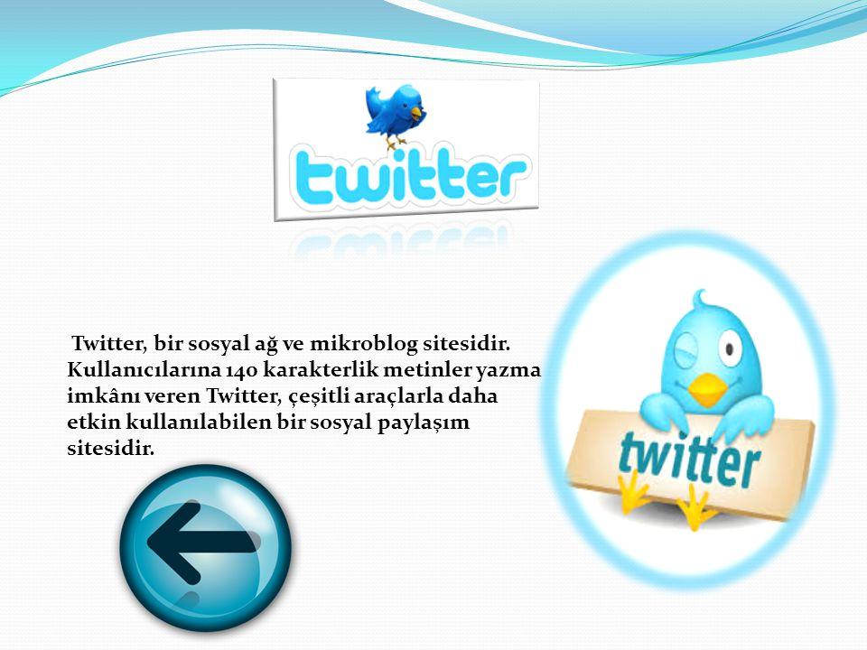 Twitter, bir sosyal ağ ve mikroblog sitesidir.