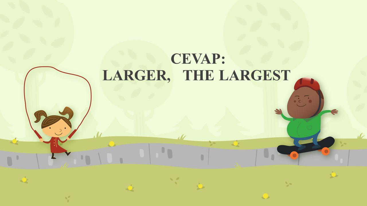 CEVAP: LARGER, THE LARGEST