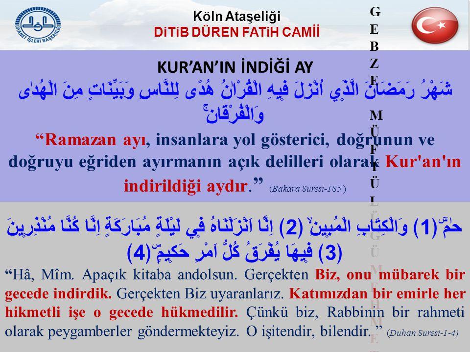 "KUR'AN'IN İNDİĞİ AY شَهْرُ رَمَضَانَ الَّذ۪ٓي اُنْزِلَ ف۪يهِ الْقُرْاٰنُ هُدًى لِلنَّاسِ وَبَيِّنَاتٍ مِنَ الْهُدٰى وَالْفُرْقَانِۚ ""Ramazan ayı, insa"