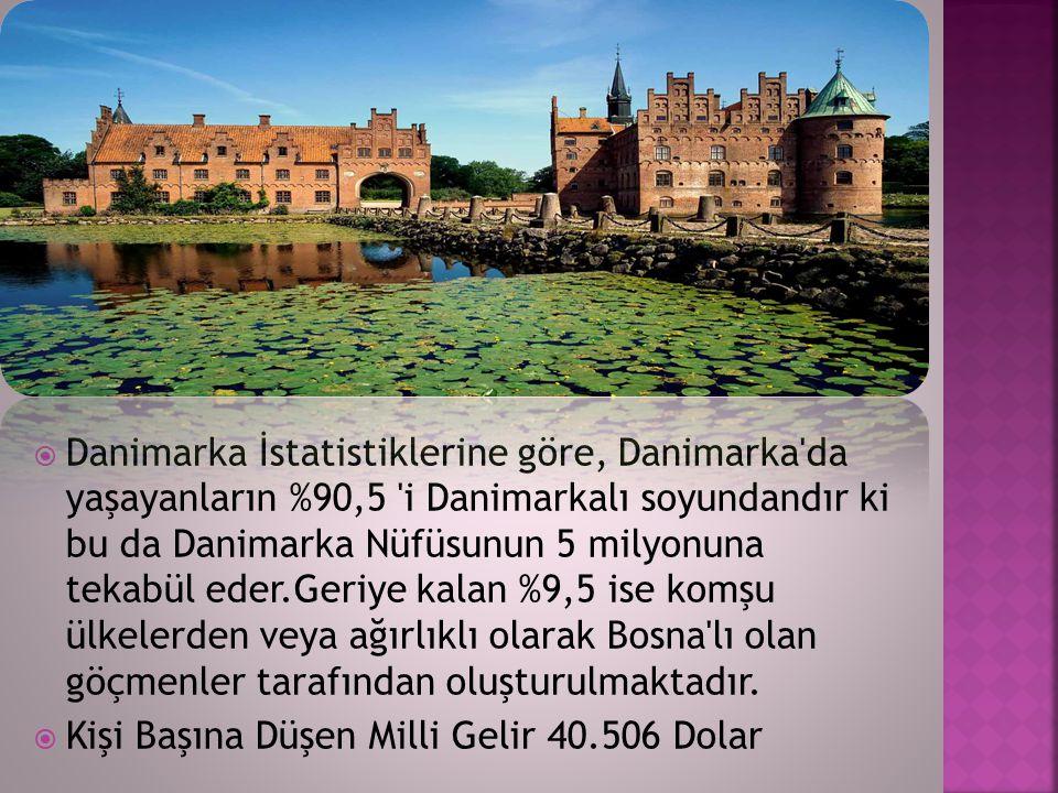  Danimarka İstatistiklerine göre, Danimarka'da yaşayanların %90,5 'i Danimarkalı soyundandır ki bu da Danimarka Nüfüsunun 5 milyonuna tekabül eder.Ge