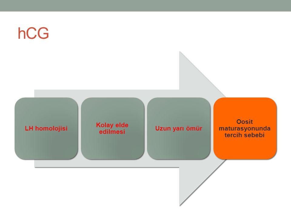 OHSS riski yüksek olan durumlarda öneriler Taze transfer ve düsük doz hCG eklenmesi (dual trigger) 25 follikülün üstünde ise total freeze veya yoğun luteal faz desteği- düşük doz hCG eklemeden Trigger gününde estradiol konsantrasyonu<4000 pg/ml olan olgularda dual trigger(1000IU hCG) ve yoğun luteal faz desteği (Kol et.