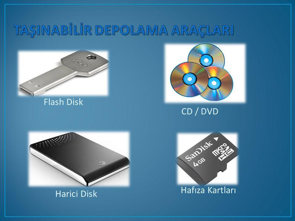 CD / DVD Flash Disk Hafıza Kartları Harici Disk