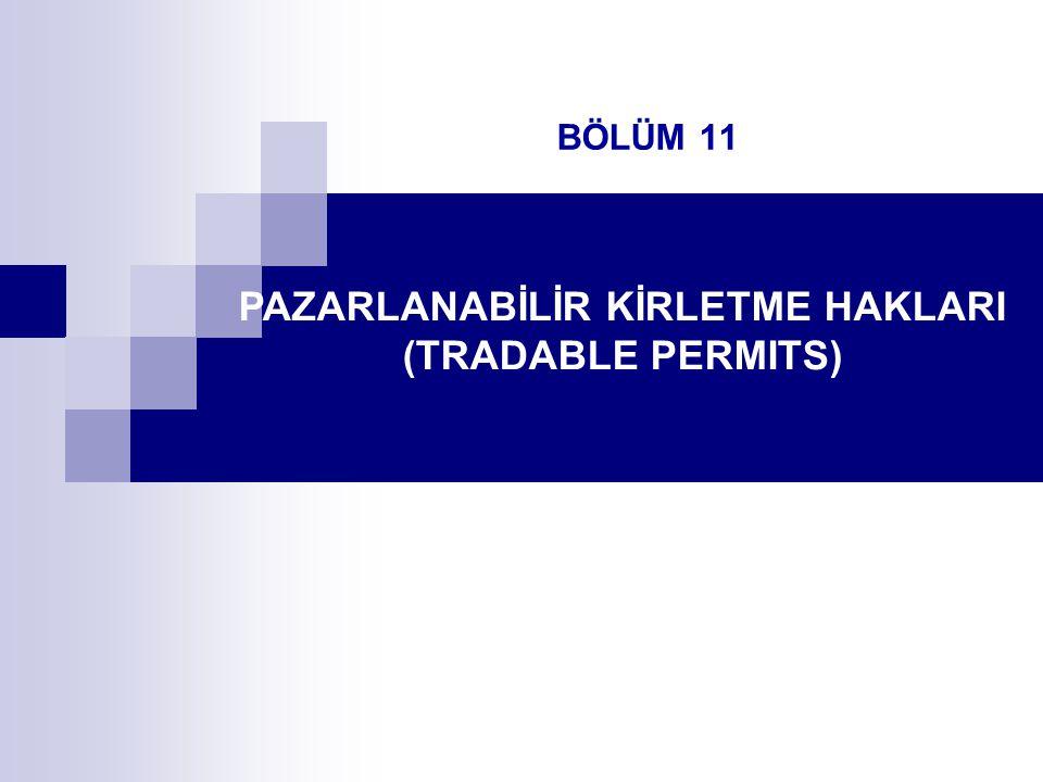 BÖLÜM 11 PAZARLANABİLİR KİRLETME HAKLARI (TRADABLE PERMITS)
