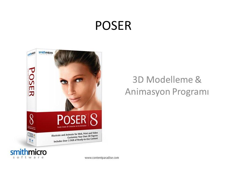 POSER 3D Modelleme & Animasyon Programı