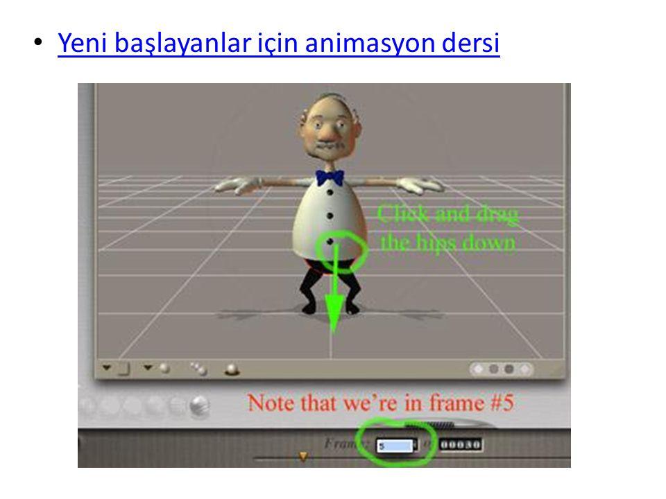 Yeni başlayanlar için animasyon dersi