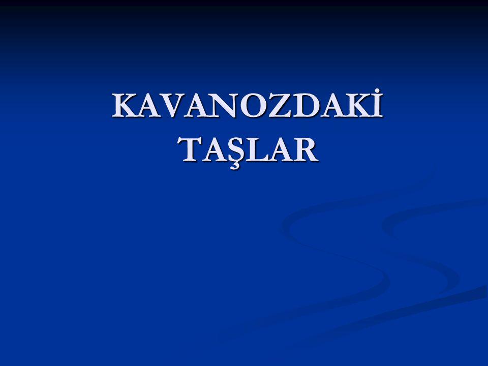 KAVANOZDAKİ TAŞLAR