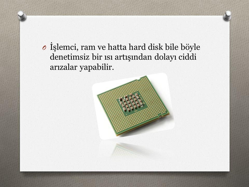 O İşlemci, ram ve hatta hard disk bile böyle denetimsiz bir ısı artışından dolayı ciddi arızalar yapabilir.