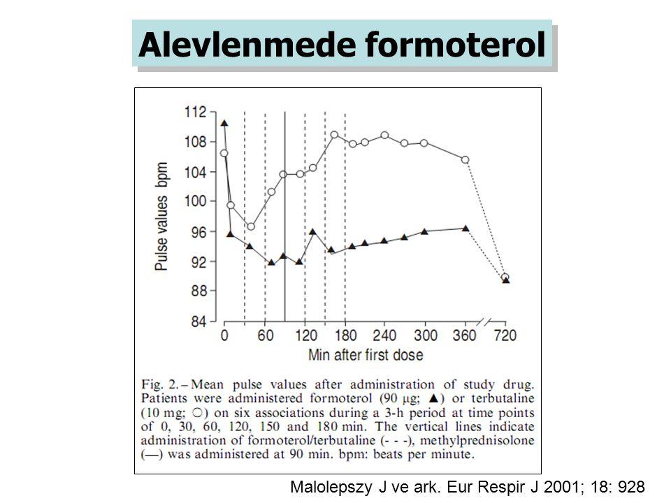 Malolepszy J ve ark. Eur Respir J 2001; 18: 928 Alevlenmede formoterol