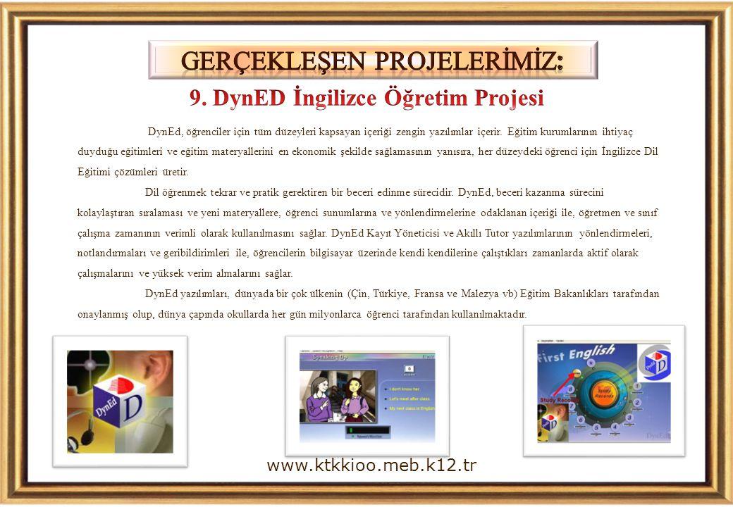 DynEd, öğrenciler için tüm düzeyleri kapsayan içeriği zengin yazılımlar içerir.