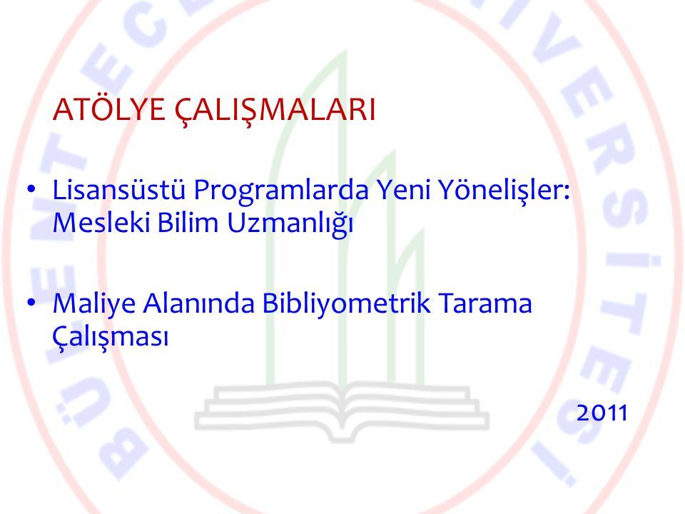 Türkiye'de Yükseköğretimin Yeniden Yapılandırılması ve Kalite Güvence Sistemi Çalıştayı 20.2.2012 – Türkiye'de Yükseköğretimin Yeniden Yapılandırılması ve Kalite – Yükseköğretim İçin Kalite Güvence Sistemi Yaklaşımı oturumları ÇALIŞTAY