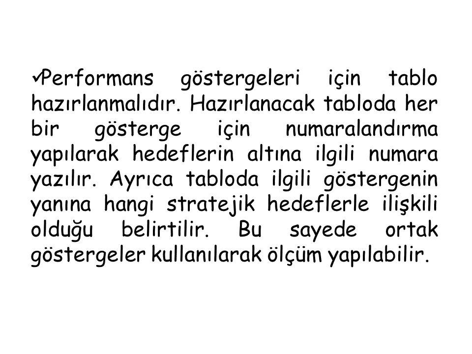 SAM3 Performans Göstergeleri PERFORMANS HEDEFLERİ Türü Cari Yılİlk YılSonraki Yıl Hedefleri SP Dönemi P.