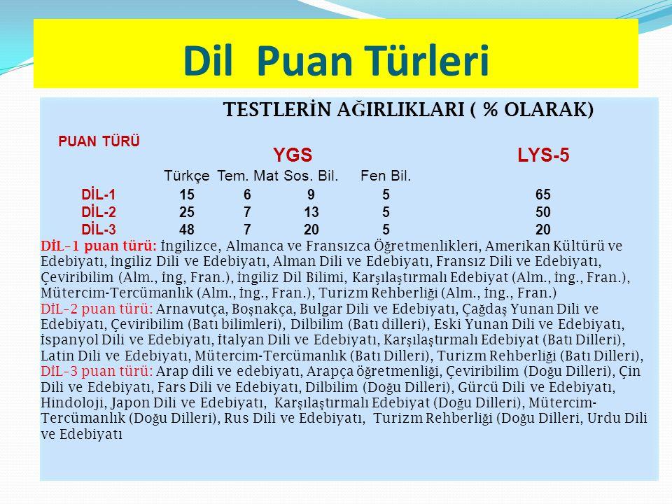 Dil Puan Türleri