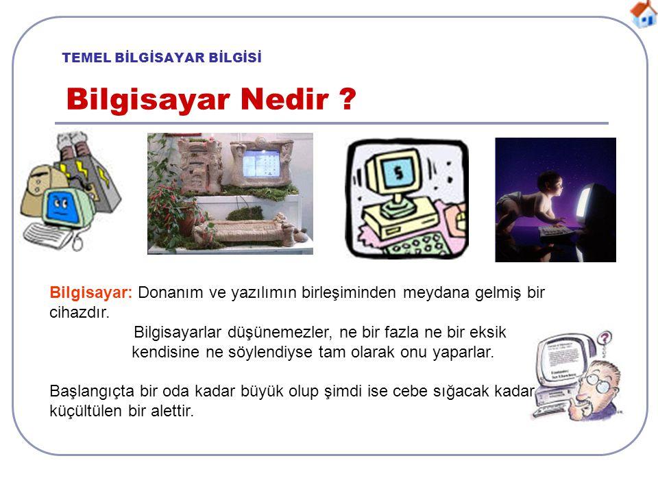 TEMEL BİLGİSAYAR BİLGİSİ Bilgisayar Terimleri .