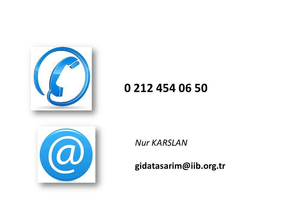 0 212 454 06 50 Nur KARSLAN gidatasarim@iib.org.tr