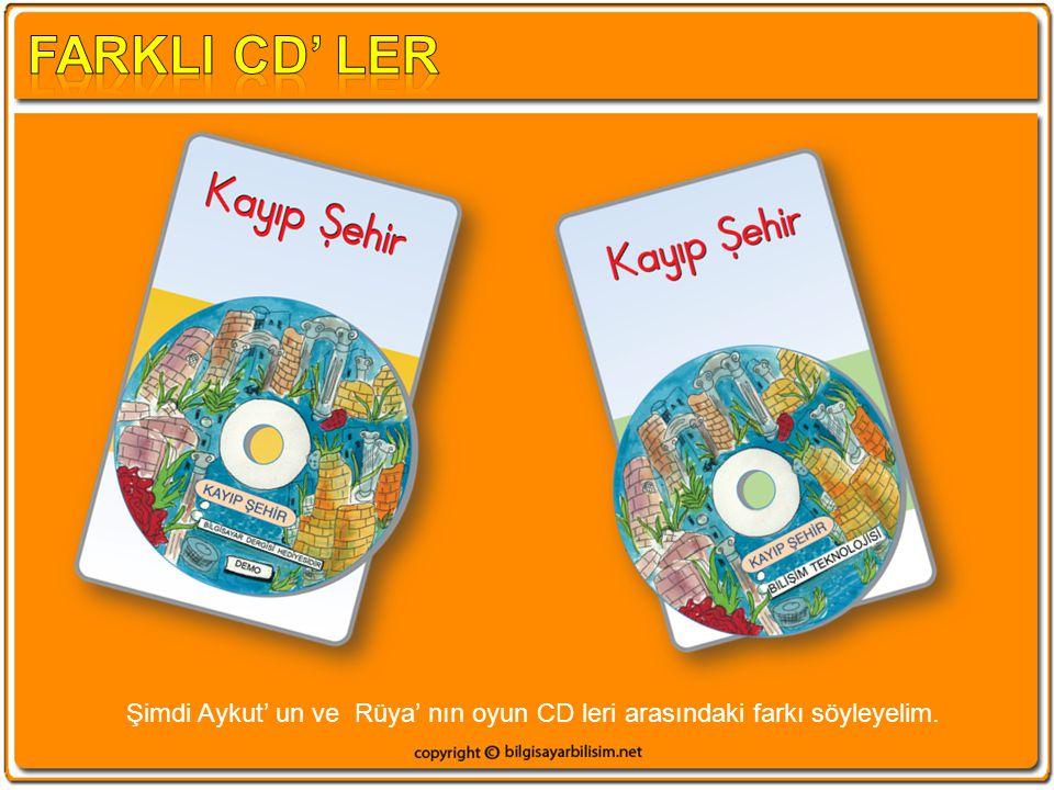 Şimdi Aykut' un ve Rüya' nın oyun CD leri arasındaki farkı söyleyelim.