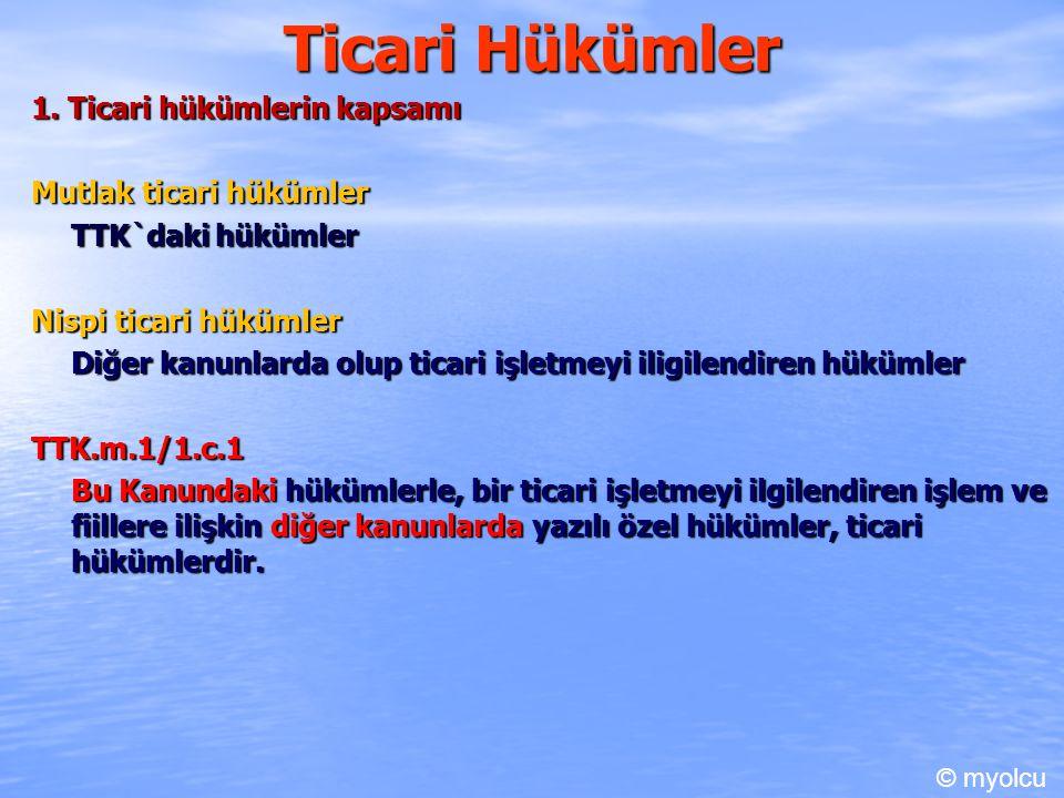 Ticari Hükümler 1.