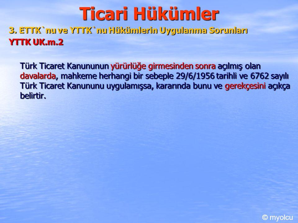 Ticari Hükümler 3.