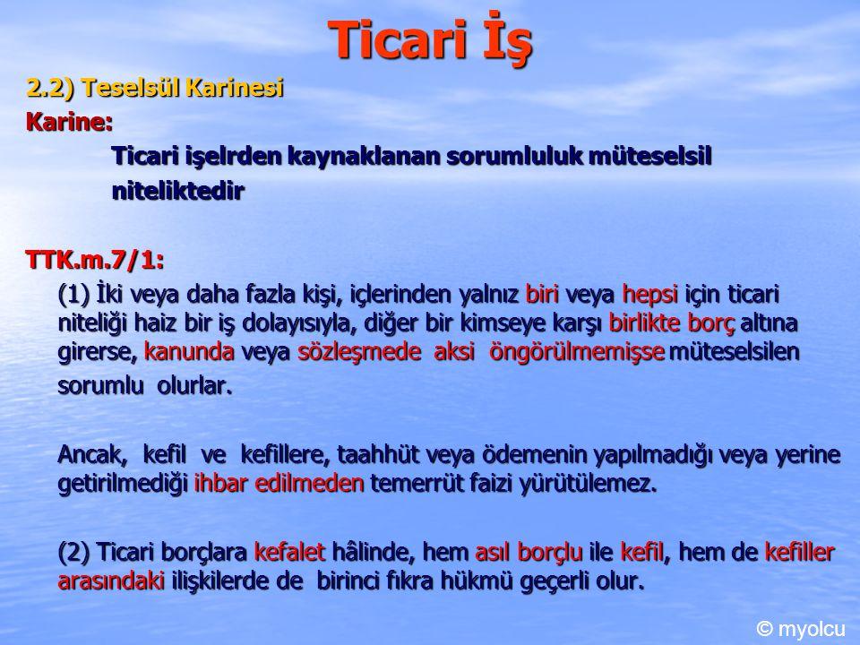 Ticari Hükümler 2.