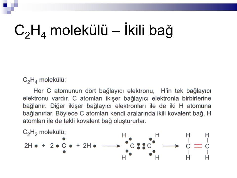C 2 H 4 molekülü – İkili bağ