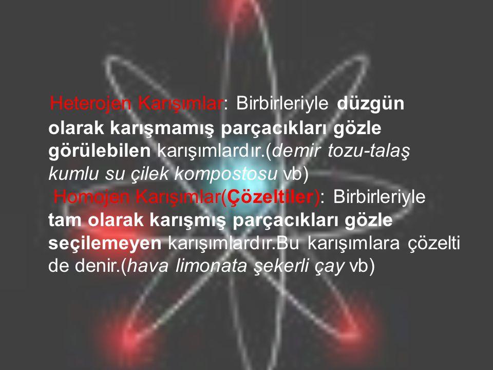 Isıtılan Maddenin Taneciklerinin Hareketi : Maddeler ısıtıldığında yani ısı enerjisi aldığında maddeyi oluşturan taneciklerin hareket enerjileri artar yani tanecikler daha hızlı hareket ederler.