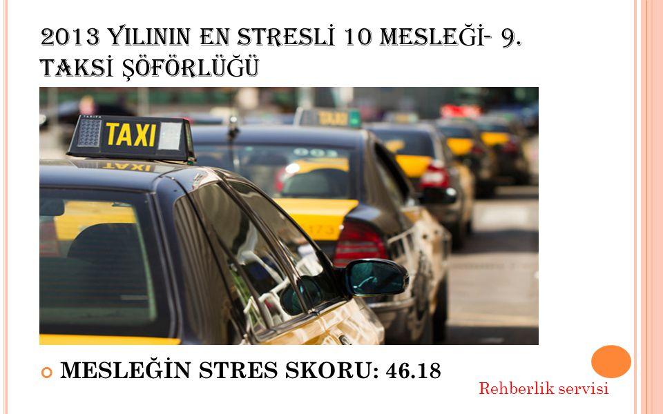 2013 YILININ EN STRESL İ 10 MESLE Ğİ - 9.