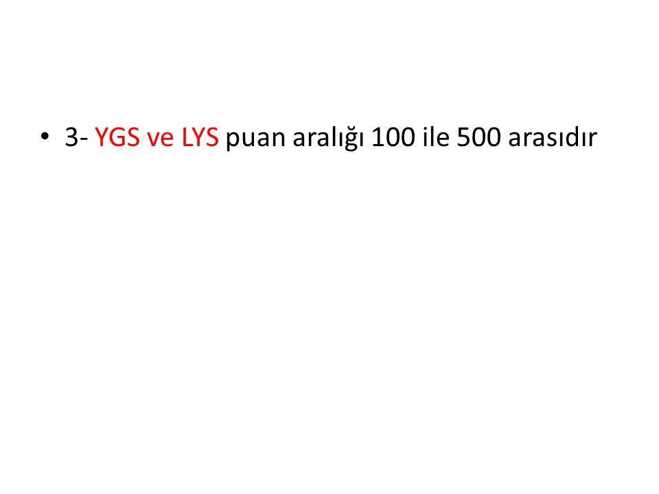 Puan Türü MF GRUBU TESTLERİN YÜZDELİK AĞIRLIK PUANTAJLARI YGSLYS-1LYS-2 TürkçeSosyal Bilimler T emel Mate.