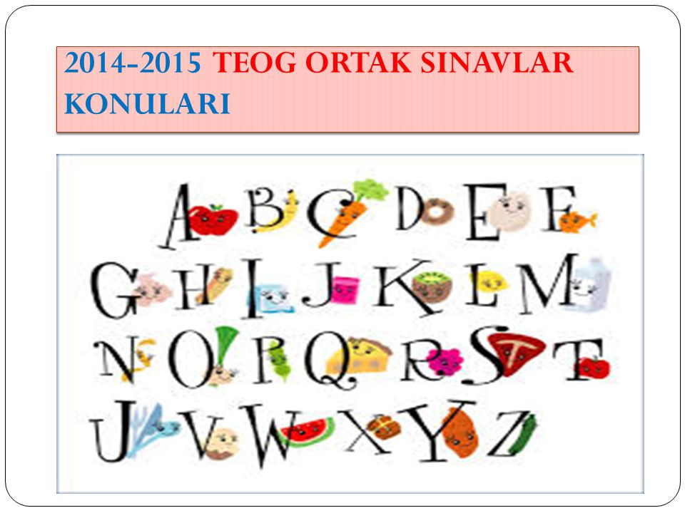 2014-2015 TEOG ORTAK SINAVLAR KONULARI www.kisiselbasari.com