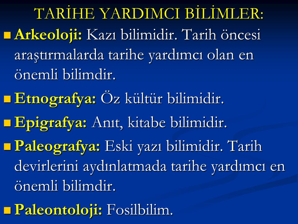I.Orhun Kitabeleri I.Orhun Kitabeleri II.Manas Destanı II.