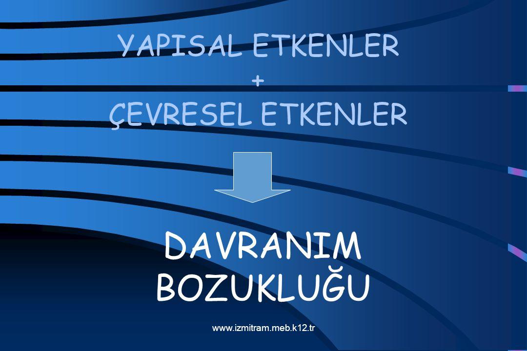 YAPISAL ETKENLER + ÇEVRESEL ETKENLER DAVRANIM BOZUKLUĞU www.izmitram.meb.k12.tr