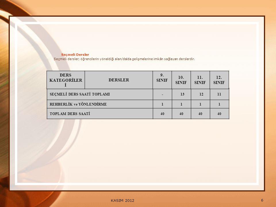 17 KASIM 2012 Sorumlu Olarak Sınıf Geçme ve Sorumluluğun Kalkması Madde 34 — Doğrudan veya yılsonu başarı notu ile sınıfını geçemeyen öğrencilerden; 9.