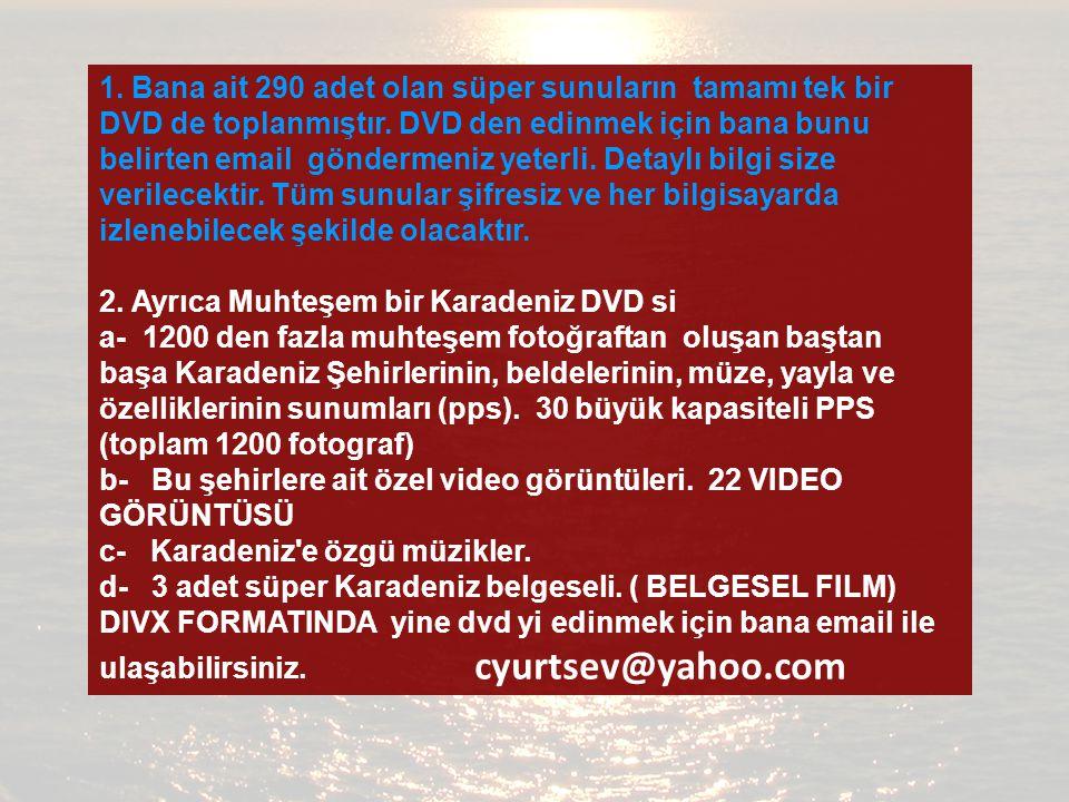 1.Bana ait 290 adet olan süper sunuların tamamı tek bir DVD de toplanmıştır.