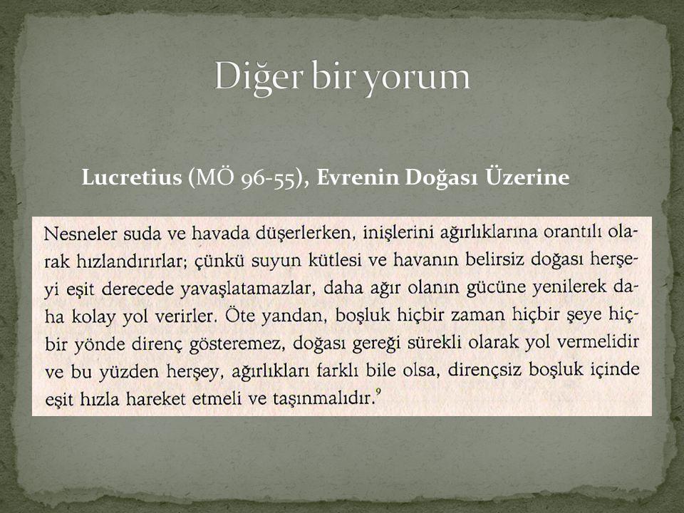 Lucretius (MÖ 96-55), Evrenin Doğası Üzerine