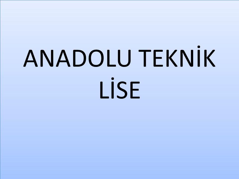 ENDÜSTRİ MESLERK LİSESİ 10 VE 11.SINIFLAR