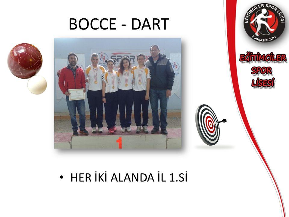 BOCCE - DART HER İKİ ALANDA İL 1.Sİ