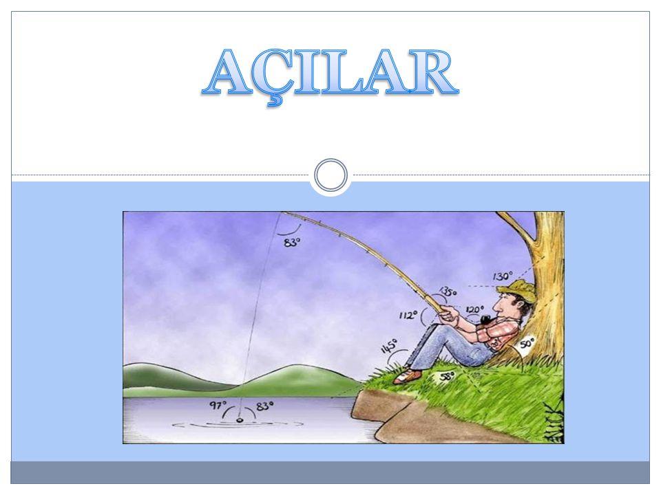 Açıortay: Açıyı iki eşit parçaya bölen ışına açıortay denir.