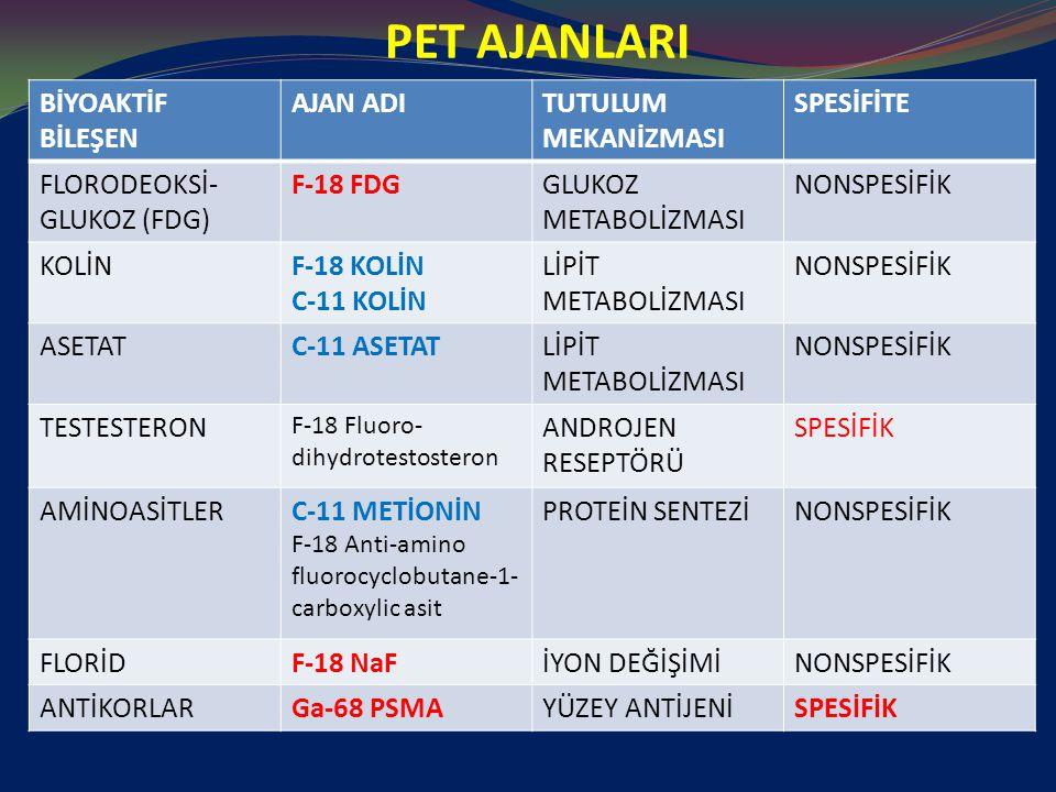 KEMİK METASTAZI F-18 NaF PET/BT F-18 NaF iyon değişimi ile hidroksilapatit matriksinde yerleşir.