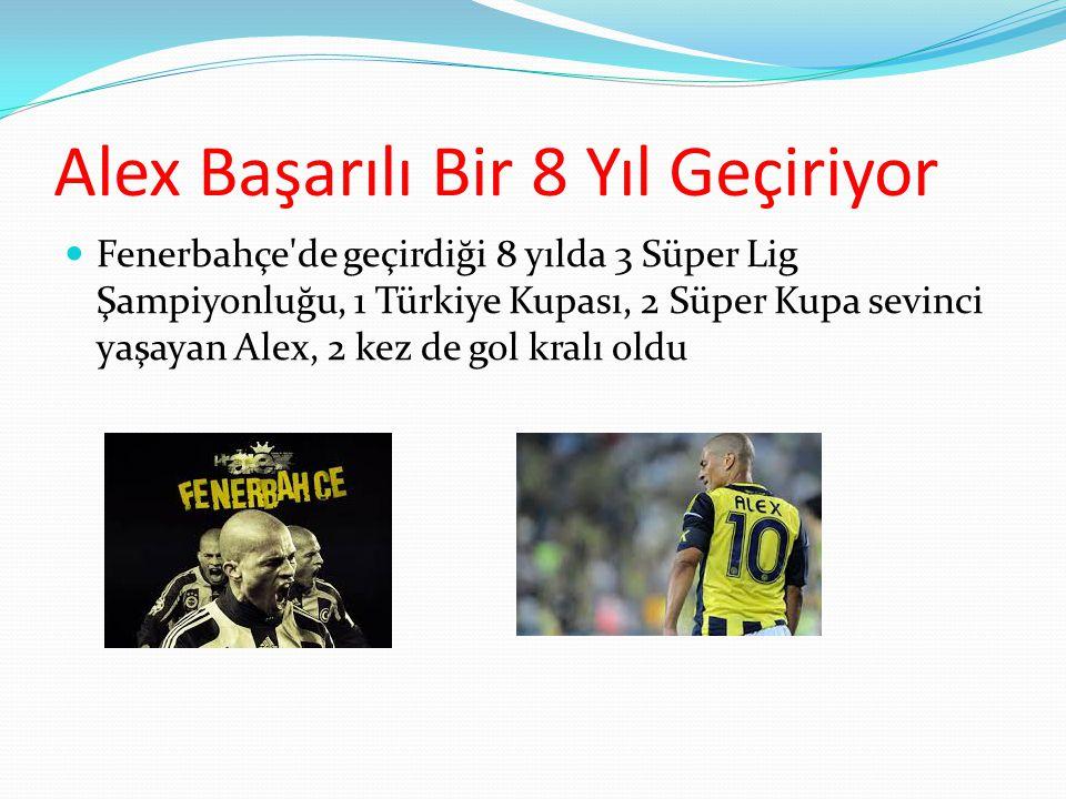 Alex Fenerbahçede 20 Haziran 2004 tarihinde 5 milyon € karşılığında Fenerbahçe'ye transfer oldu.