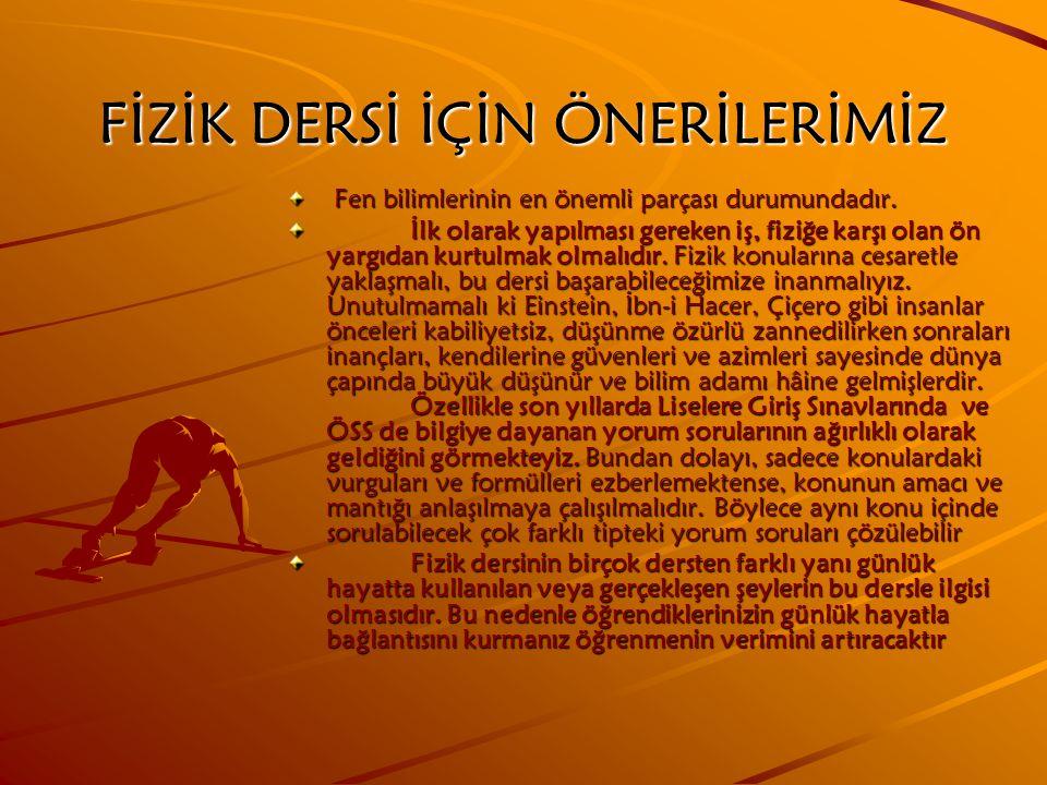 MATEMATİK DERSİ İÇİN ÖNERİLERİMİZ 1.