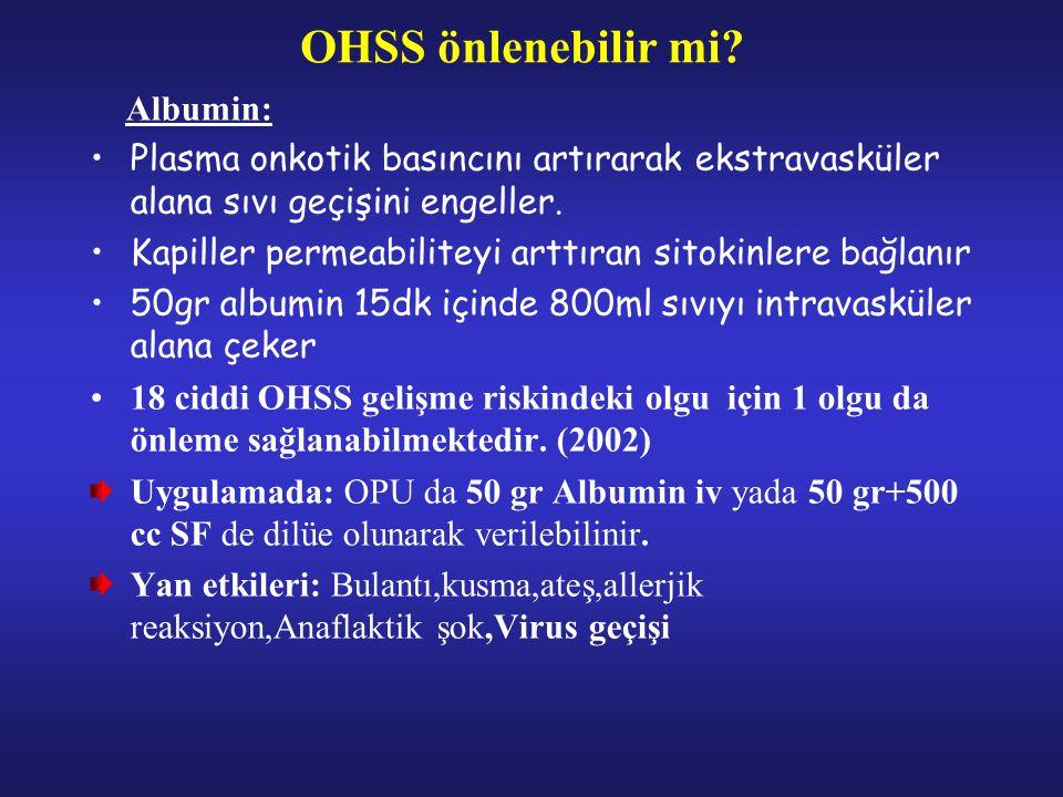 OHSS önlenebilir mi.