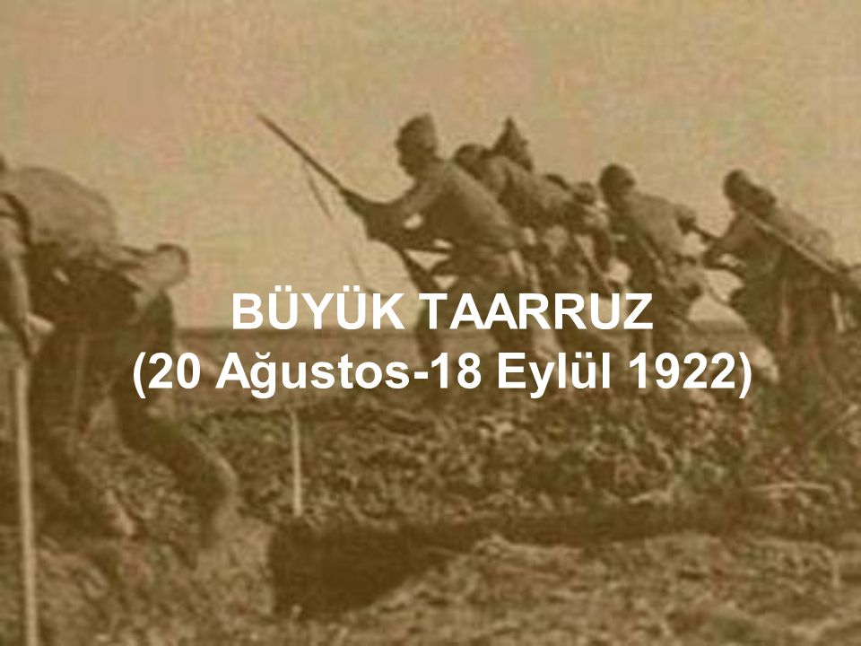 Taarruzdan bir gün sonra yani 27 Ağustosta Yunanlar geri çekilmeye başlamıştır Geçilemez dedikleri savunma hatları Türk askerinin iman kuvveti karşısında erimiş sanki yok olmuştur.