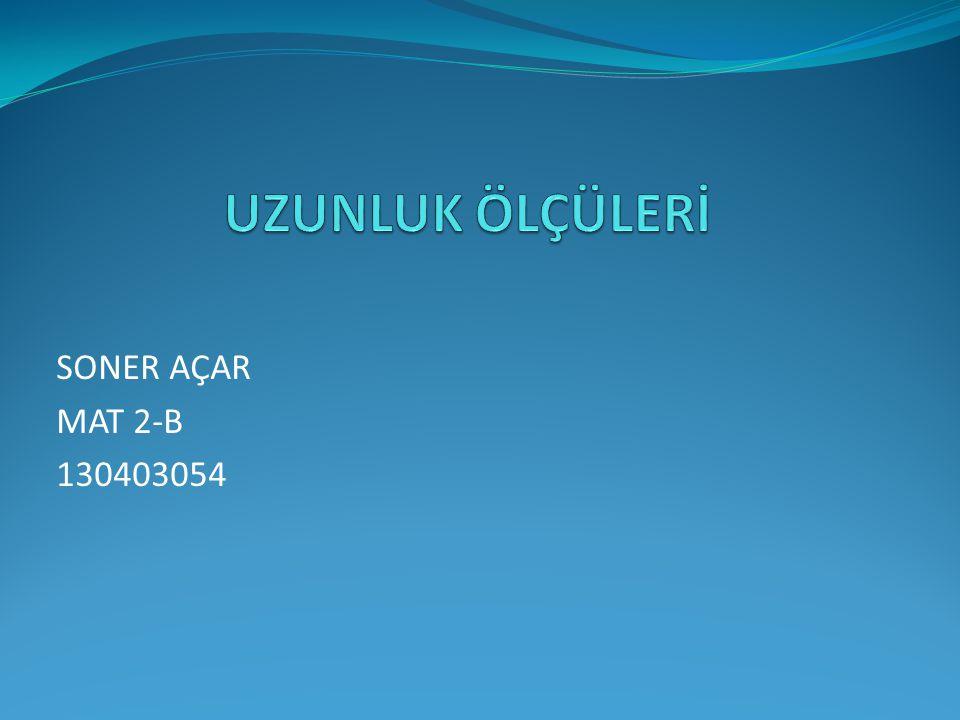 SONER AÇAR MAT 2-B 130403054