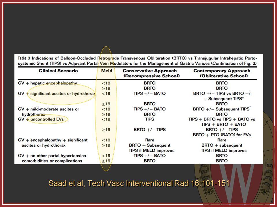 Saad et al, Tech Vasc Interventional Rad 16:101-151