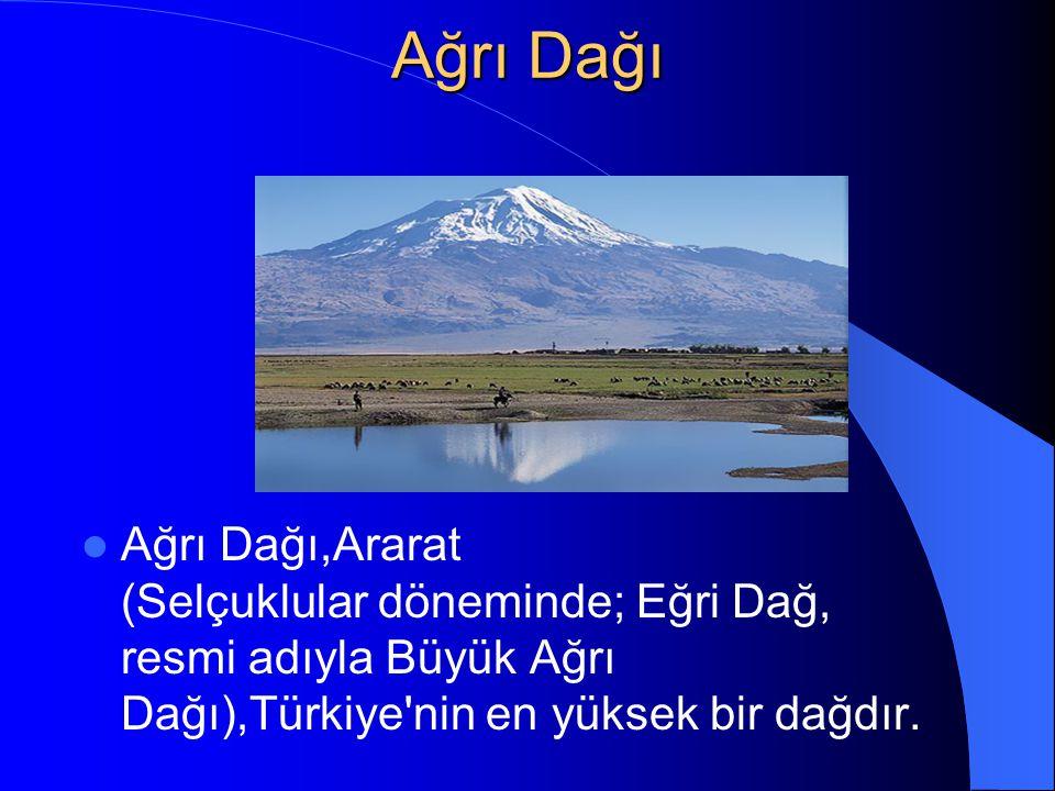 Ağrı Dağı Ağrı Dağı,Ararat (Selçuklular döneminde; Eğri Dağ, resmi adıyla Büyük Ağrı Dağı),Türkiye'nin en yüksek bir dağdır.