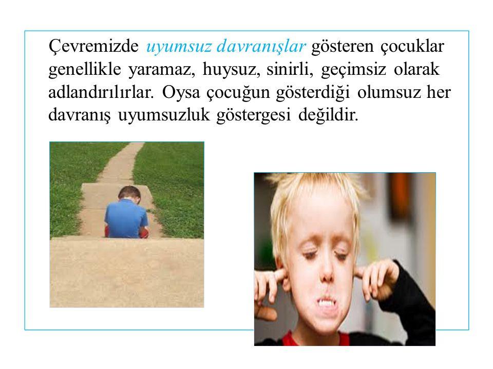 Kaynakça: MEB Çocuk Gelişimi ve Eğitimi, Uyumsuz Çocuklar, Ankara, 2011