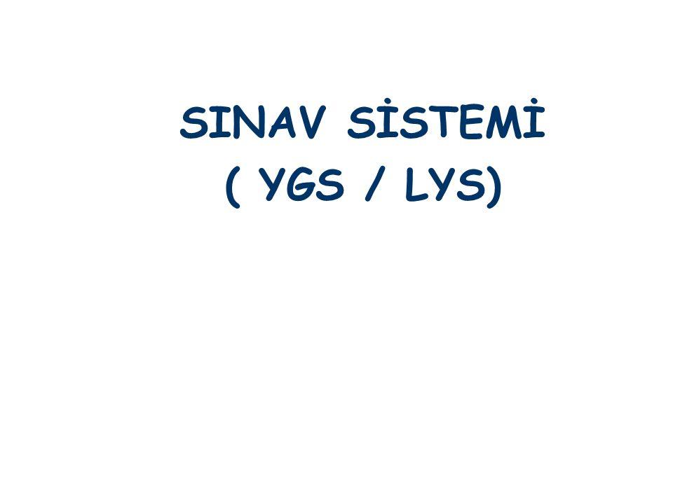 SINAV SİSTEMİ ( YGS / LYS)