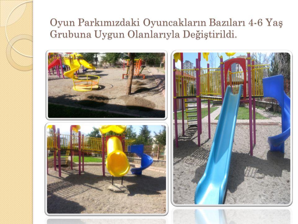 Oyun Parkımızdaki Oyuncakların Bazıları 4-6 Yaş Grubuna Uygun Olanlarıyla Değiştirildi.